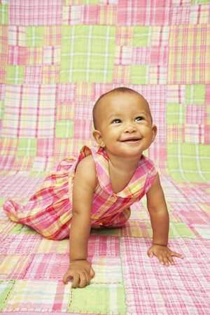 Close up baby smiling Stock Photo