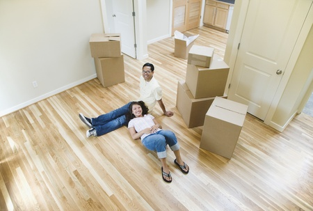 mate married: Portrait of Asian couple in new house