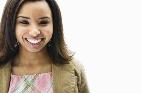 pacific islander ethnicity: Close up of African woman smiling LANG_EVOIMAGES