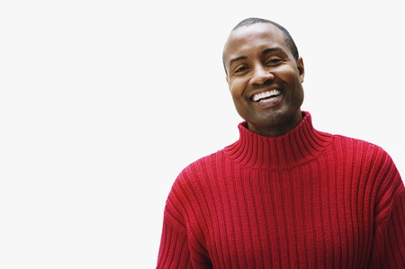 Portrait of African man wearing sweater 스톡 콘텐츠