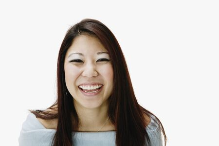 Portrait of Asian woman laughing