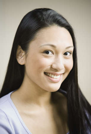 davenport: Close up of Pacific Islander woman smiling