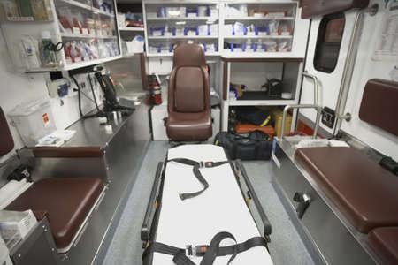 slumbering: Back area of ambulance