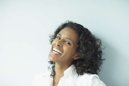 jamaican adult: African woman laughing