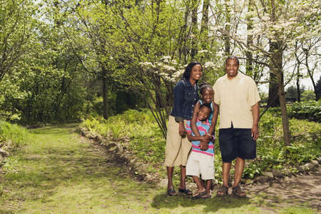 grampa: African family hugging in park