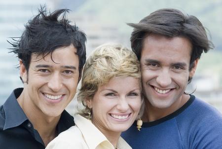 Portrait of multi-ethnic friends outdoors