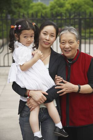 Portrait of Asian grandmother, mother and daughter
