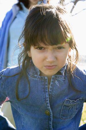 relishing: Hispanic girl looking angry
