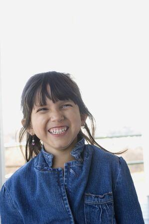 daydreamer: Hispanic girl laughing
