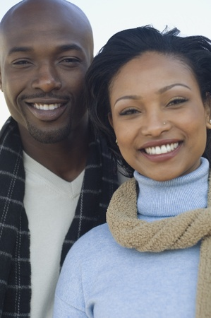 poppa: Close up of African couple smiling