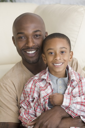 davenport: African father and son hugging