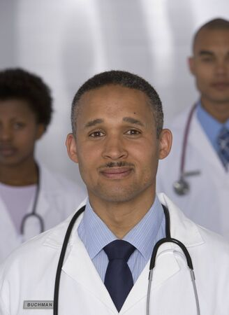 Portrait of multi-ethnic doctors