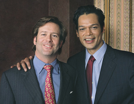 Portrait of two Hispanic businessmen