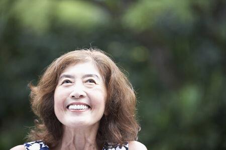 femme qui rit: Femme asiatique principal rire