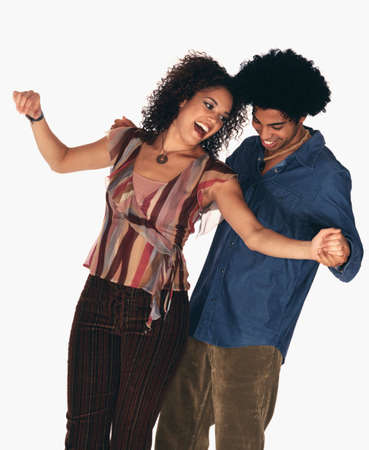 Young African couple dancing Stock Photo