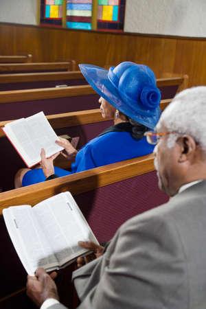 american seniors: African American seniors in church
