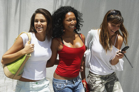 South American women laughing Stock Photo