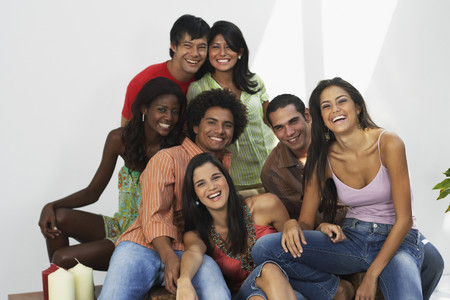 south western european descent: South American friends laughing LANG_EVOIMAGES