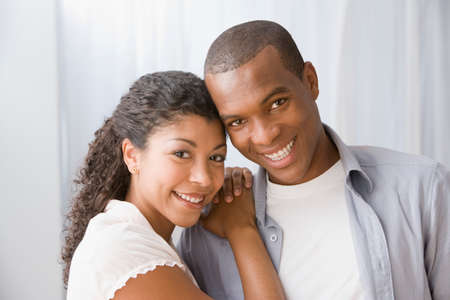 only girls: African American couple hugging