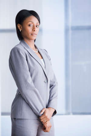 only mid adult women: Portrait of African American businesswoman