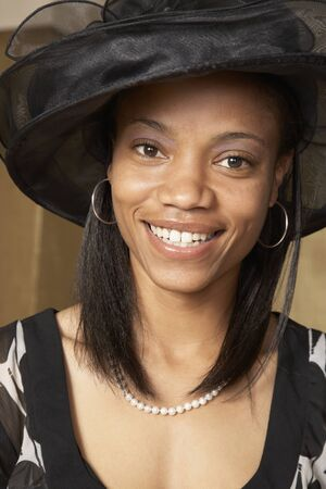 African American woman dressed for church