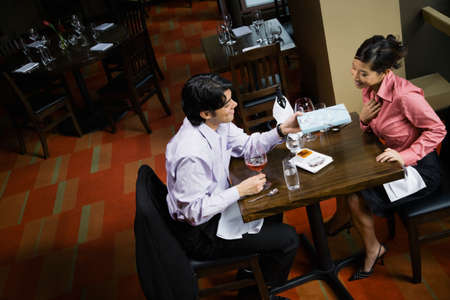 travelled: Asian couple at restaurant