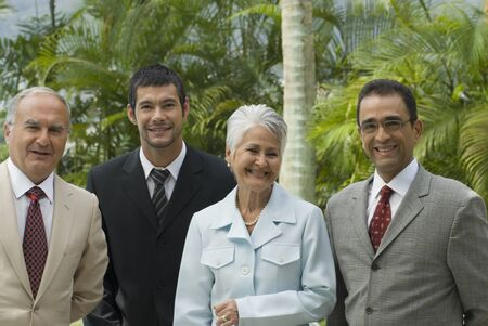 telecommuter: Group of Hispanic businesspeople