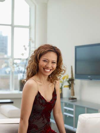 davenport: Asian woman wearing evening dress
