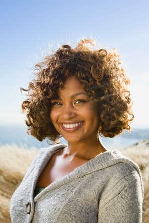 African American woman wearing sweater