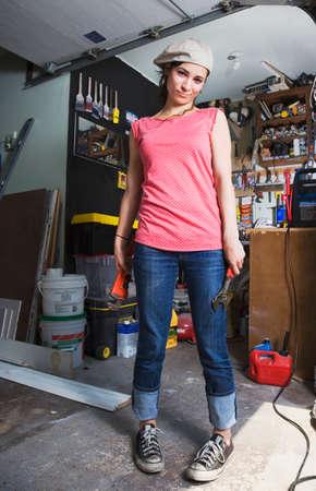 topsyturvy: Middle Eastern woman in home workshop