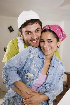 joyousness: Middle Eastern couple hugging LANG_EVOIMAGES