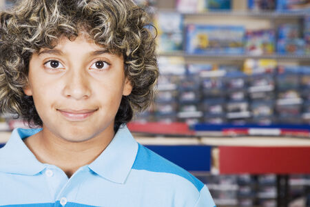 prevailing: Close up of Hispanic boy smiling