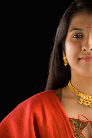 Portrait of Indian woman in traditional dress