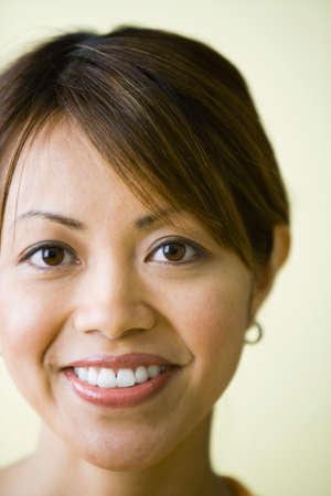spiritual beings: Close up of Pacific Islander woman smiling