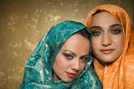 nite: Middle Eastern women wearing head scarves