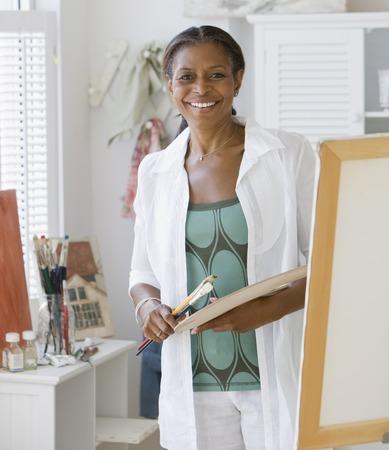 絵画上級アフリカ系アメリカ人女性 写真素材