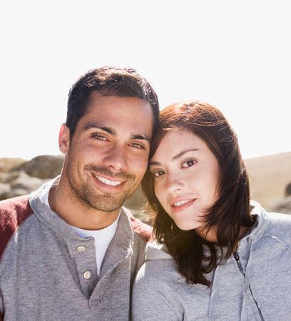 Multi-ethnic couple in sunlight