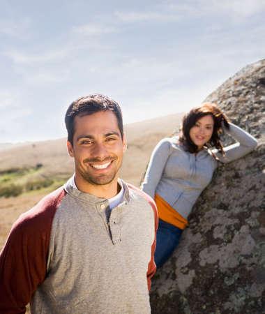 rockclimber: Multi-ethnic couple in sunlight