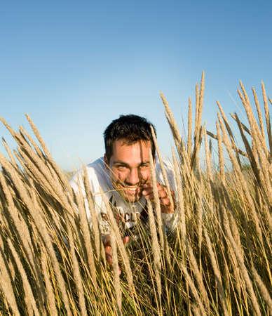 islander: Pacific Islander man in field