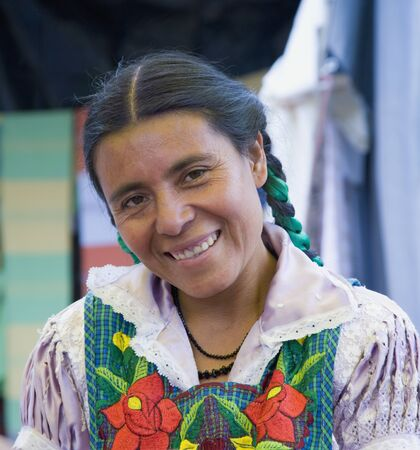 mexican woman: Portrait of indigenous Mexican woman