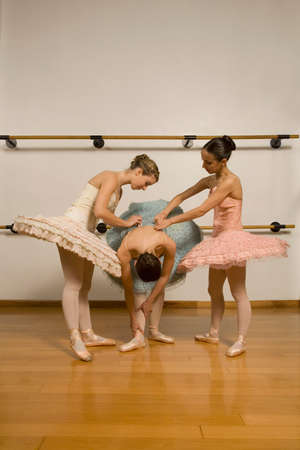 dressup: Hispanic female ballet dancers in studio