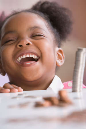 africanamerican: African American girl laughing LANG_EVOIMAGES