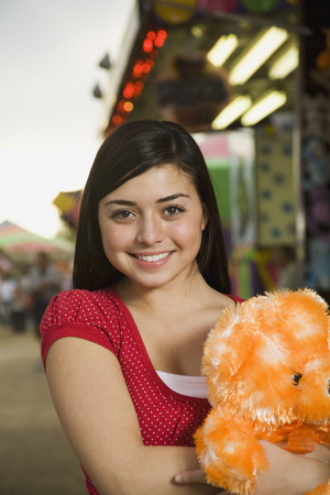 prevailing: Mixed Race teenaged girl at carnival