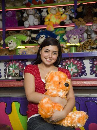 teenaged girl: Mixed Race teenaged girl at carnival