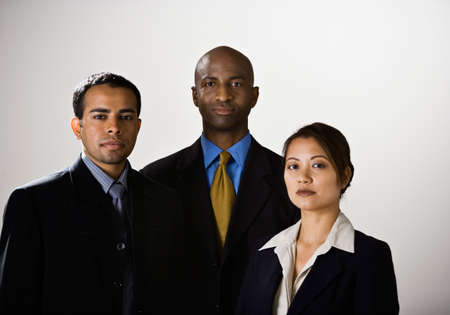 attired: Portrait of multi-ethnic businesspeople