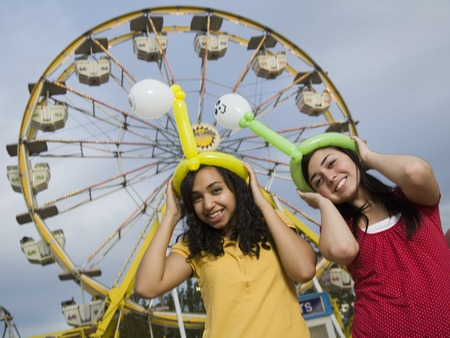 teenaged girls: Multi-ethnic teenaged girls at carnival
