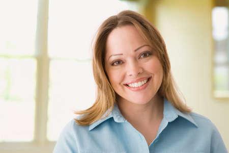 removing the risk: Portrait of Hispanic woman