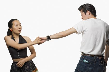 bodyart: Asian couple dancing
