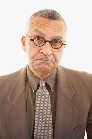 milepost: Native American businessman wearing eyeglasses LANG_EVOIMAGES