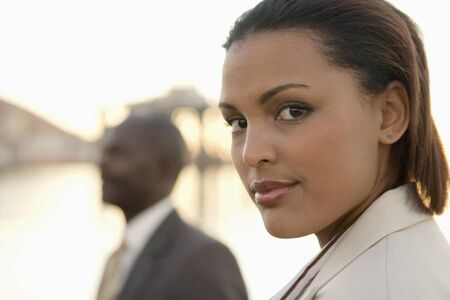 fulfilling: Close up of African American businesswomen